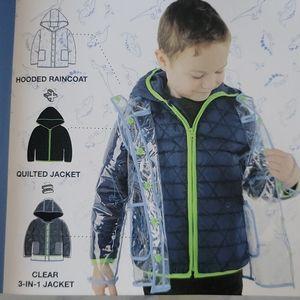 NWT 3 in 1 jacket/raincoat
